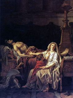 The Grief and Recriminations of Andromache over the Body of Hector Her Husband (1783) by Jacques-Louis David