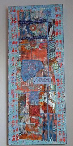 Southwest Possibilities 12x30 Mixed Media Collage by SheWolfArt, $100.00