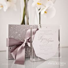 Elegant wedding invitation purple wedding invitation suite gold see grace ryans full wedding album on wedluxe lots of images of filmwisefo