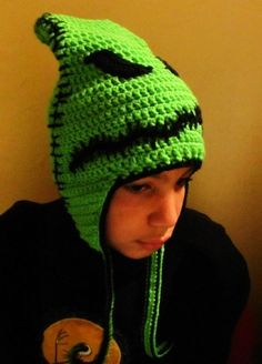 4b7b0ccc9aba0 Nightmare Before Christmas Crocheted Oogie Boogie Beanie Style Hat ...