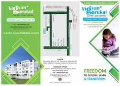 "One side design of 3 fold leaflet for ""VIGYAN GURUKUL SCHOOL"" #GraphicDesign #PrintDesign #designer"
