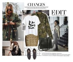 """""""Camouflage and Gold"""" by emeliet ❤ liked on Polyvore featuring Neeya, H&M, Bohemia, women's clothing, women, female, woman, misses and juniors"""