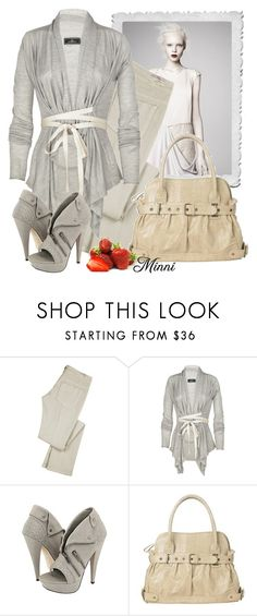 """""""Nude Look"""" by minni ❤ liked on Polyvore featuring Sportmax, Vanessa Bruno, By Malene Birger, Dolce Vita, cardigan, bag, nude look, grey, strawberries and heels"""