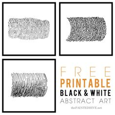 Free printable modern black & white art | The Painted Hive