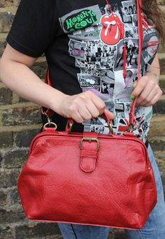 Doctor bag in red small size