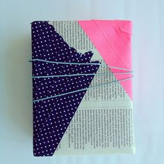 Dots, pink & newspaper gift wrap