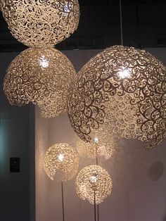This could be an alternate version of the doily lamp. #DIY #lighting