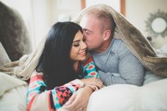 http://www.inspiredbythis.com/2013/04/inspired-by-this-family-breakfast-at-home/ engagement photo inspiration // cozy at home under the blankets