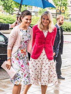 "Crown Prince Haakon and Crown Princess Mette-Marit of Norway, Crown Princess Victoria of Sweden attended the ""Eat Stockholm Food Forum 2015"" on June 1, 2015 Stockholm, Sweden."