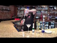 One of our star bartenders demonstrates to us how to make an Artesian Cooler