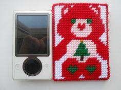 Plastic Canvas Christmas Care Bear Cell Phone Holder