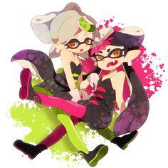 「くコ:彡」/「駒鳥うい」のイラスト [pixiv] #SquidSisters #Callie #Marie
