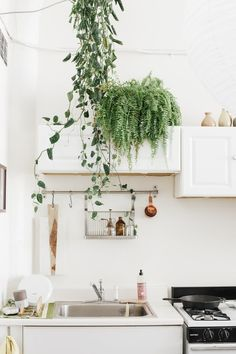 A creative couple make a sunny, bright and minimal home and workspace in a…