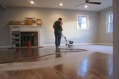 Thinking about refinishing hardwood floors? Learn about the hardwood floor restoration process including how long it typically takes, and get hardwood floor refinishing tips to help you DIY or decide to go pro. Diy Wood Floors, Refinishing Hardwood Floors, Diy Flooring, Laminate Flooring, Floor Refinishing, Flooring Types, Flooring Options, Flooring Ideas, Floor Restoration