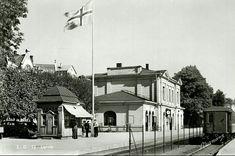 Vestfold fylke Larvik jernbanestasjonen Utg Normann Stemplet 1953