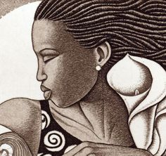 "Artist Keith Mallett - close up of etching ""I'll fly away"""