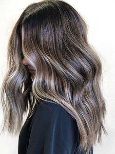 Ash Brown Hair Balayage, Ash Brown Hair With Highlights, Brown Blonde Hair, Balayage Brunette, Hair Highlights, Golden Blonde, Silver Blonde, Brown Beach Hair, Ashy Hair