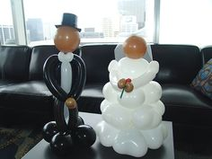 bridal shower decoration ideas | These wedding shower balloon centerpieces were a great touch to this ...