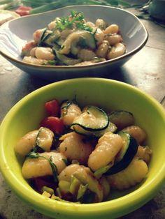 Gnocchi with Zucchini Ribbons - vegetarian recipe