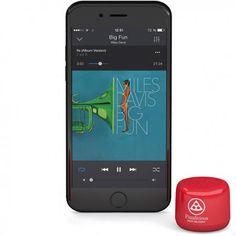 Mini enceinte Bluetooth® personnalisée Twins - Cadeau d'entreprise high-tech