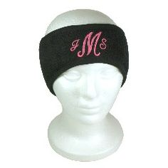 Monogrammed Fleece Sport Headband...great for staying warm on those COLD runs!  $20 at www.skygrovepersonalizedgifts.com