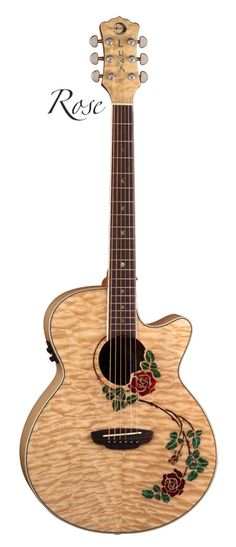 Rose...not the drink, but an acoustic guitar made by Luna guitars.