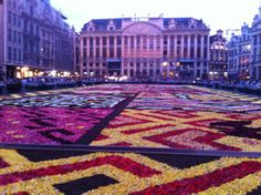 Gorgeous buildings, great people watching, and every 2 years a magical flower carpet.  Flower market also on the weekend.  Worth seeing in daytime but also at night.