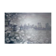 Parvez Taj Down Town Print on Brushed Aluminum Art Print on Brushed ($326) ❤ liked on Polyvore featuring home, home decor, wall art, metal art, wall decor, map wall art, white wall art, white home decor, abstract wall art and abstract home decor