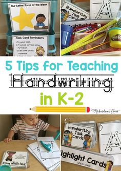 5 Tips for Teaching Handwriting in your kindergarten and first grade classroom-A MUST READ!