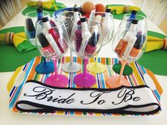 bachelorette party favor ideas- diy wine glasses |  bach weekend with bridesmaids