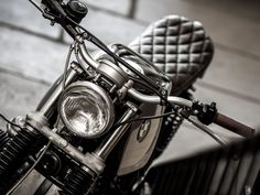 """Having seduced us all with their BMW scrambler """"Gold Top"""" a few months ago, Down & Out Cafe Racers have been making an annoying habit of. Bmw Vintage, Vintage Cafe Racer, Classic Car Insurance, Best Car Insurance, Motorcycle Tires, Motorcycle Design, Street Tracker, Bmw Cafe Racer, Cafe Racers"""