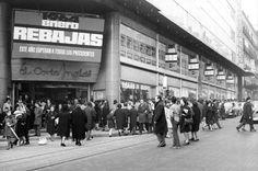 El Corte Inglés de la calle Preciados de Madrid, en 1964.