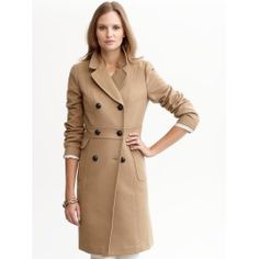 I got this coat on sale since mine are all falling apart.  It looks cuter in person.  More a-line.  I always like Banana Republic coats.  this is the third one I have owned.  One I have is too small and had to be relined and the other is falling apart since I have worn it so much.  It was hard to find an inexpensive camel coat and this one was much on sale. Now I want a camel plaid coat.