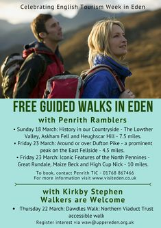 Step out to discover some of Eden's amazing walks during English Tourism Week.