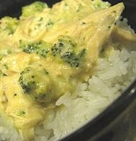 Creamy Crockpot Chicken & Broccoli, made this for dinner tonight. Really great but next time I'm using two cans chedder and no cream of chicken and I probably won't use the whole can of chicken broth
