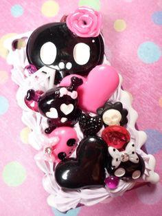 Sweet Skulls Goth Kawaii Decoden Deco Case by Lucifurious
