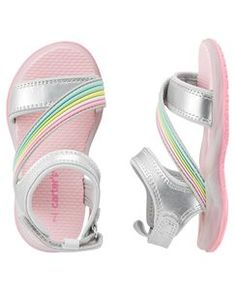 Carter's Light-Up Sandals zapatos de tendencia mujer casual Little Girl Shoes, Cute Baby Shoes, Baby Girl Shoes, Kid Shoes, Girls Shoes, Kids Sandals, Baby Sandals, Bare Foot Sandals, Baby Booties
