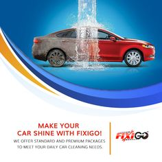 Fixigo offers the best car wash service in Dwarka that uses eco-friendly method. We offer doorstep service that allows consumers to get their car clean on the same day! Engine Detailing, Car Detailing, Car Wash Posters, Car Advertising, Clever Advertising, Pressure Washing Business, Car Logo Design, Graphic Design, Car Wash Business