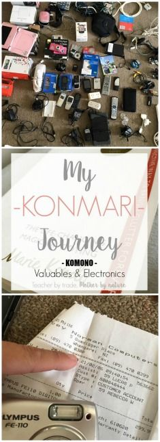 Teacher by trade, Mother by nature: My KonMari Journey: KOMONO - Valuables and Electronics