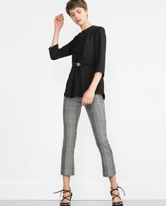 ZARA - NEW IN - BLOUSE WITH WAIST APPLIQUÉ