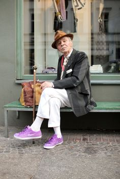 Awesome! Love this dude!!  Peter, the perfect gentleman.  83 years old and still stylin.
