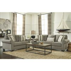 Baveria - Fog - Sofa & Loveseat | 47600/38/35 | Living Room Groups | Shop Furniture 4 U