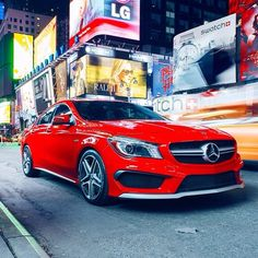 Does the CLA45 AMG outshine the famous billboards of Times Square? @Mercedes-Benz – The best or nothing Photo c/o @Andrew Mager Link