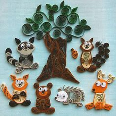 Paper Quilling animals.... so fun and easy!
