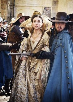 Alexandra Dowling & Tom Burke in 'The Musketeers' (2014).