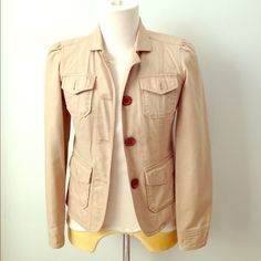 hpsafari khaki jacket Great jacket for spring or fall. Fully lined. Gently used. Excellent condition. GAP Jackets & Coats