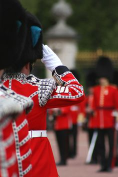 Changing the Guard, Buckingham Palace, London, England - my dad was a guard there!