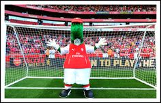 Gunner in goal at the Emirates.