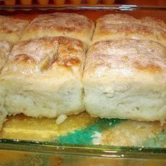 7-Up Bisquits  4 cup bisquick   1 cup sour cream   1 cup 7 up   1/2 cup melted butter