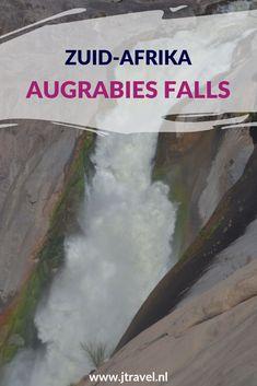 De Augrabies Falls zijn de op zes na grootste waterval ter wereld. Vooral in de maanden maart/april zie je de 56 meter waterval in al haar glorie naar beneden storten. Toen ik hier was, was er niet veel spektakel. Ik vond het ontzettend tegenvallen. Meer lezen over deze waterval doe je op mijn website. Lees je mee? #augrabiesfalls #waterval #zuidafrika #jtravel #jtravelblog